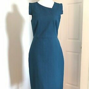 NWT J Crew Factory Origami Teal Dress size 4